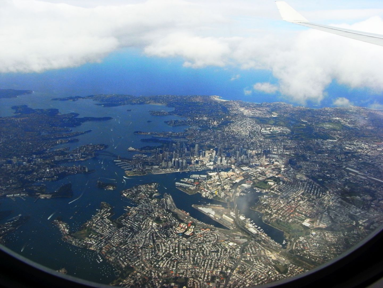 Sydney Flugzeug Perspektive