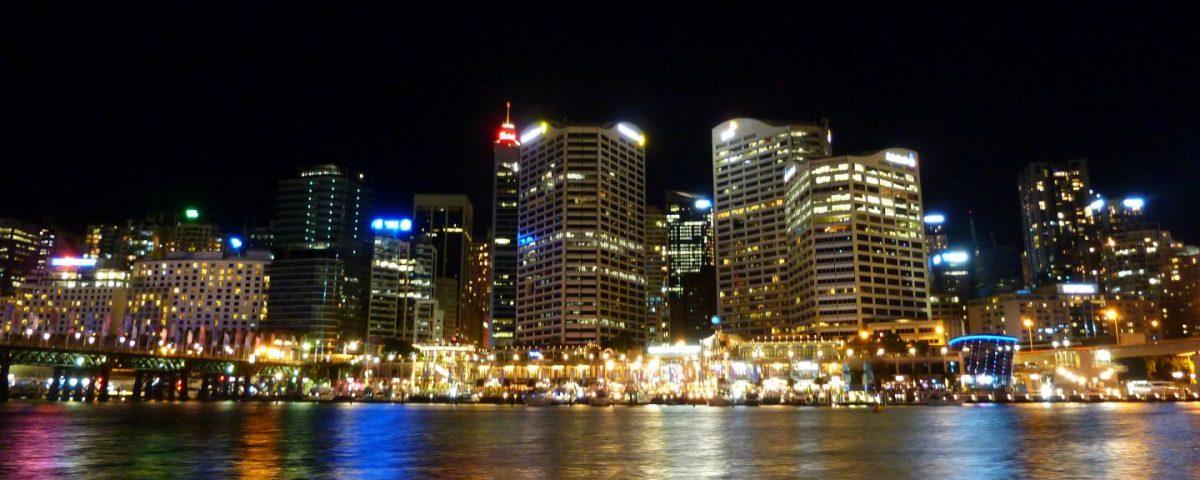 Banks in Darling Harbour Sydney